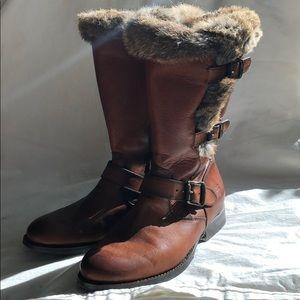 Worn twice fur lined Frye boots